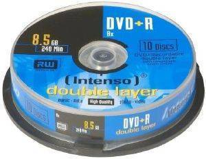 INTENSO 4311142 DVD+R INTENSO 8.5GB X8 DOUBLE LAYER 4311142 10PCS