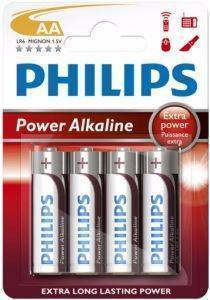 ΜΠΑΤΑΡΙΑ PHILIPS POWER ALAKLINE LR6 P4B/10 AA 4ΤΕΜ