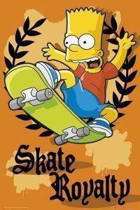POSTER THE SIMPSONS SKATE ROYALTY 61 X 91.5 CM