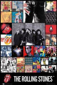 POSTER ROLLING STONES DISCOGRAPHY 61 X 91.5 CM