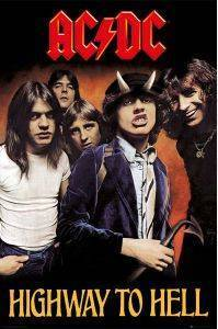 POSTER  AC/DC HIGHWAY TO HELL 61 X 91.5 CM