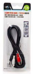 NATEC NKA-0424 MINI JACK TO 2XRCA STEREO CABLE 2.5M