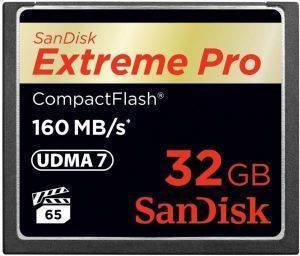 SANDISK SDCFXPS-032G-X46 EXTREME PRO 32GB COMPACT FLASH UDMA-7 MEMORY CARD