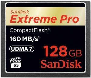 SANDISK SDCFXPS-128G-X46 EXTREME PRO 128GB COMPACT FLASH UDMA-7 MEMORY CARD