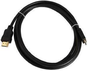 INLINE MINI HDMI TO HDMI CABLE HIGH SPEED 2M BLACK