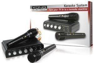 KONIG HAV-KM11 KARAOKE MIXER WITH 2 MICROPHONES