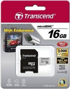 TRANSCEND TS16GUSDHC10V 16GB HIGH ENDURANCE MICRO SDHC CLASS 10 WITH ADAPTER