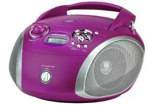 GRUNDIG RCD 1445 USB RADIO WITH CD PLAYER AND MP3/WMA PLAYBACK PURPLE/SILVER