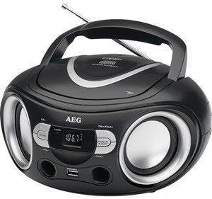 AEG SR 4374 STEREO RADIO WITH CD PLAYER BLACK