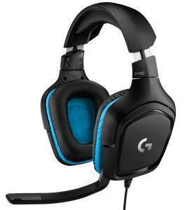 LOGITECH G432 7.1 SURROUND SOUND WIRED GAMING HEADSET LEATHERETTE