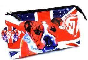 W7 BULLDOG COSMETIC BAG 25X20CM