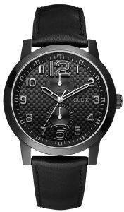 GUESS BLACK LEATHER STRAP