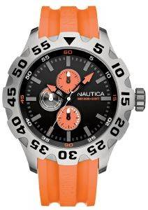 ΑΝΔΡΙΚΟ ΡΟΛΟΙ NAUTICA ORANGE SPORT RUBBER STRAP
