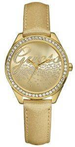 GUESS TREND CRYSTAL GOLD LEATHER STRAP
