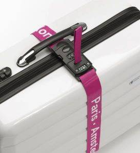 LUGGAGE MATE LOCK STRAP WITH INTEGRATED SCALE MAGENTA