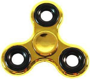 FIDGET SPINNER TOY - GOLD/BLACK METAL