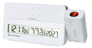 BRESSER MYTIME PRO PROJECTION ALARM CLOCK WHITE 8010031