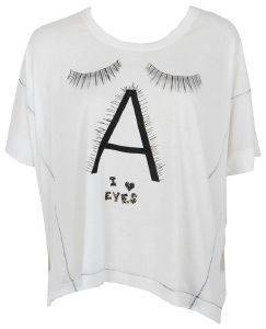 Τ- SHIRT YOUR EYES LIE LOVE EYES ΛΕΥΚΟ