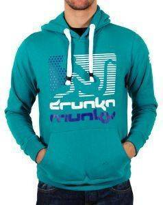 HOODIE DRUNKNMUNKY PEACOCK ΜΕ ΣΤΑΜΠΑ ΠΡΑΣΙΝΟ (M)