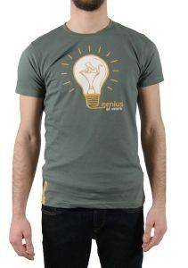 T-SHIRT DRUNKNMUNKY GENIUS ΣΚΟΥΡΟ ΠΡΑΣΙΝΟ (S)
