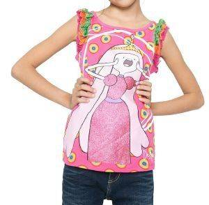 T-SHIRT DESIGUAL MONTGOMERY ADVENTURE TIME ΦΟΥΞΙΑ