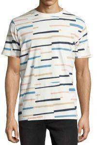 T-SHIRT WESC MAX BROKEN STRIPE ΕΚΡΟΥ