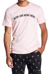 T-SHIRT WESC MAX MIRRORED PRINT ΡΟΖ