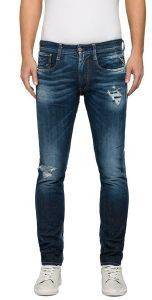 JEANS REPLAY ANBASS MA914.000.61C159R SLIM ΣΚΟΥΡΟ ΜΠΛΕ