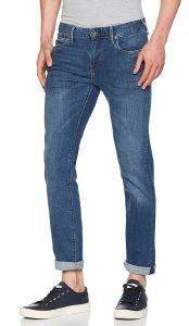 JEANS PEPE HATCH SLIM PM200823F374 ΜΠΛΕ