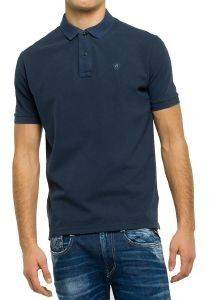 T-SHIRT POLO REPLAY M3537A.000.22450V ΣΚΟΥΡΟ ΜΠΛΕ