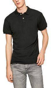 T-SHIRT POLO PEPE JEANS VINCENT ΜΑΥΡΟ