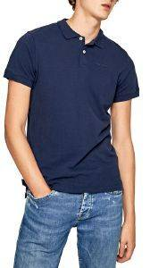 T-SHIRT POLO PEPE JEANS VINCENT ΣΚΟΥΡΟ ΜΠΛΕ