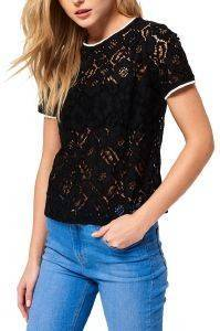 T-HIRT SUPERDRY TORI ALL OVER LACE ΜΑΥΡΟ