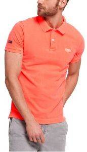 T-SHIRT POLO SUPERDRY D4 VINTAGE DESTROY FLUO ΚΟΡΑΛΙ
