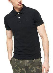T-SHIRT POLO SUPERDRY D4 VINTAGE DESTROY ΜΑΥΡΟ