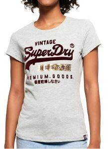 T-SHIRT SUPERDRY PREMIUM GOODS SPORT ENTRY G10006SR/07Q ΓΚΡΙ ΜΕΛΑΝΖΕ