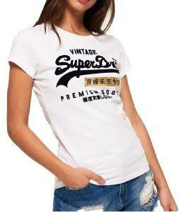 T-SHIRT SUPERDRY PREMIUM GOODS SPORT ENTRY G10006SR/WO8 ΛΕΥΚΟ