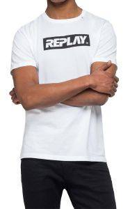 T-SHIRT REPLAY M3845 .000.2660 ΛΕΥΚΟ