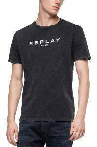 T-SHIRT REPLAY M3867 .000.22658M ΜΑΥΡΟ