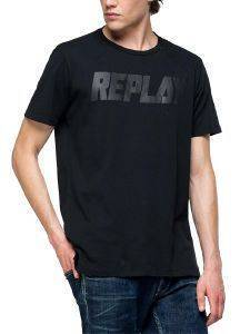 T-SHIRT REPLAY M3864 .000.22038 ΜΑΥΡΟ