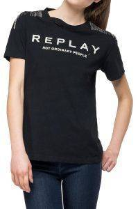 T-SHIRT REPLAY W3217B.000.22660 ΜΑΥΡΟ