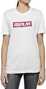T-SHIRT REPLAY W3940U.000.22658 ΛΕΥΚΟ