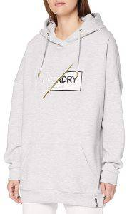 HOODIE SUPERDRY ANA W2000005A ΓΚΡΙ ΜΕΛΑΝΖΕ (S)