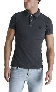 T-SHIRT POLO SUPERDRY VINTAGE DESTROYED M1110014A ΜΑΥΡΟ