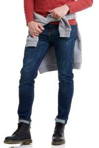 JEANS FUNKY BUDDHA LOOSE TAPERED FBM002-064-02 ΣΚΟΥΡΟ ΜΠΛΕ