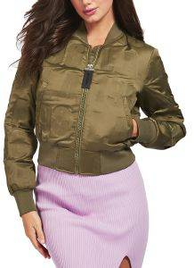 ΤΖΑΚΕΤ GUESS ELLY ALL OVER LOGO BOMBER W0YL59WD1V0 ΛΑΔΙ