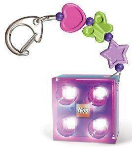 LEGO FRIENDS LED KEY LIGHT WITH CHARMS PURPLE