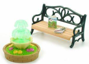 SYLVANIAN FAMILIES  BENCH & FOUNTAIN [4535]