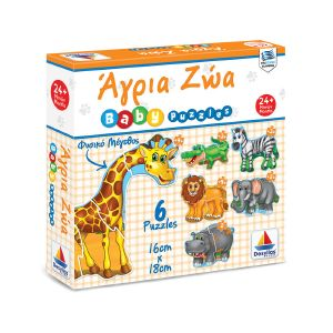 BABY PUZZLE ΔΕΣΥΛΛΑΣ ΑΓΡΙΑ ΖΩΑ 18 ΚΟΜΜΑΤΙΑ