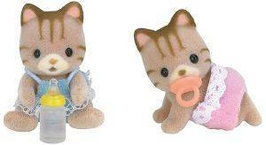 SYLVANIAN FAMILIES STRIPED CAT TWINS [5188]